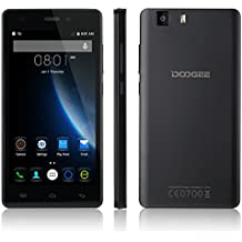 DOOGEE X5 Pro, Unlocked 4G Smartphone - 5.0'' IPS Screen - 2GB RAM+16GB ROM - Dual SIM Mobile with Dual Camera - Long Standby SIM Free - Android Cell Phone (NEGRO)