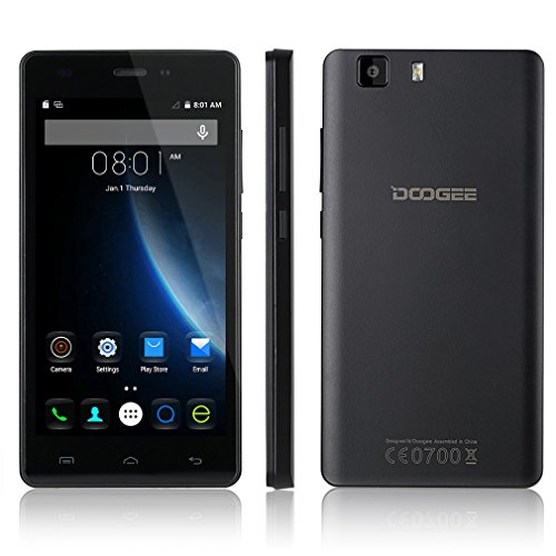 "DOOGEE X5 Pro, Unlocked 4G Smartphone – 5.0"" IPS Screen – 2GB RAM+16GB ROM – Dual SIM Mobile with Dual Camera – Long Standby SIM Free – Android Cell Phone"
