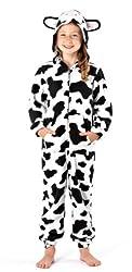Girls Hooded Onesie Fleece All in One Kids Printed Jump Sleep Suit Nightwear Cosy Pyjamas by Selena Girl