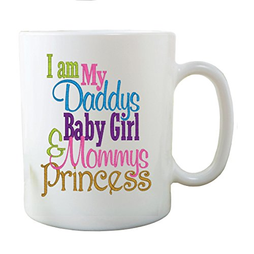Parete smart design daddy' s girl mommy' s princess fathers day tazza regalo per la festa della mamma, bianco