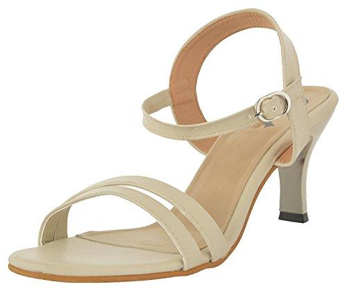 Jade Women's Synthetic Fashion Sandals W11-Beige-38