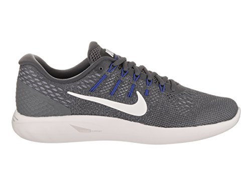 Nike Lunarglide 8, Sneakers Homme Gris (Dk Grey/summit White/wolf Grey/paramount Blue/med Blue)