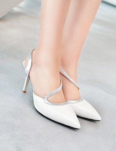 LFNLYX Scarpe Donna-Sandali-Formale / Casual / Serata e festa-Tacchi / Con cinghia / A punta-A stiletto-PU-Rosa / Rosso / Bianco White