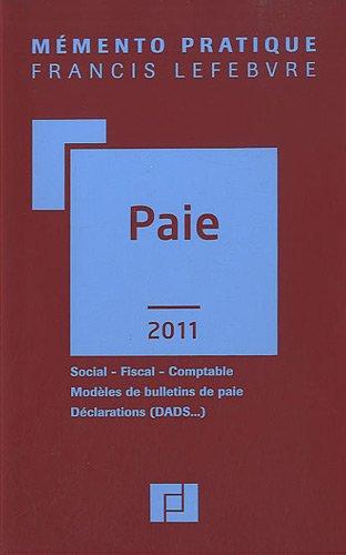 paie (édition 2011)