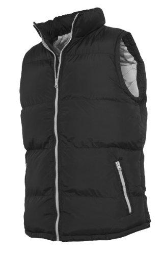 Urban Classics TB299 Contrast Bubble Vest Piumino Smanicato Uomo Regular Fit Black Grey