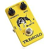 Joyo JF-09 - Pedal de efecto vibrato para guitarra (batería zinc carbono), color amarillo