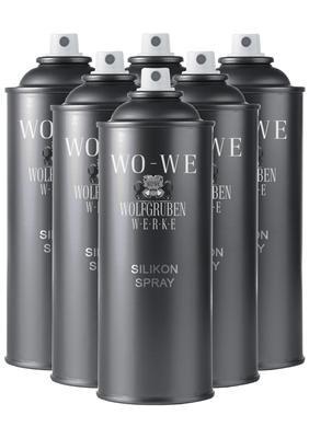Preisvergleich Produktbild 6x400ml Silikonspray Silikon Spray Silicon Kunststoffpflege Kunststoff Pflege Silikonöl Trennmittel Öl mit Spraydosengriff