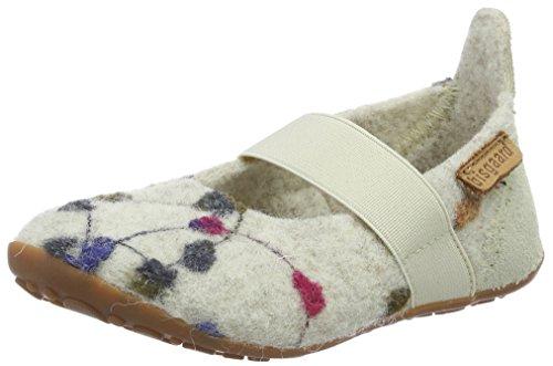 Bisgaard Mädchen Wool Ballet Slipper, Weiß (171 Creme-Flowers), 27 EU