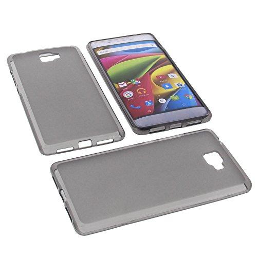 foto-kontor Tasche für Archos 55 Cobalt Plus Gummi TPU Schutz Hülle Handytasche grau