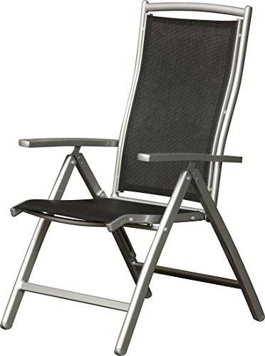 IB-Style - Premium Hochlehner PRESIDENT Aluminium Silber Textilen Schwarz - mehrwachgewebt (Gewinner Nur Möbel)
