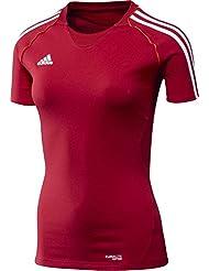 adidas T-Shirt T12 Team Shortsleeve X13801 - Camiseta de running para mujer, color rojo / blanco, talla 32