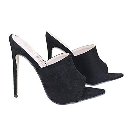 Frauen Candy Farbe Slipper Schuhe Sommer Slip On Open Toe Fisch Mund Point Toe High Heel Sandalen Gladiator Rom Party Flip Flops