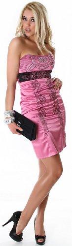 Jela london maillot de bain style bandeau pour femme-robe à paillettes orné & brodé Rose - Lightpink