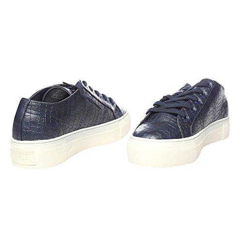 RIFLE Chaussures plates femme avec lacets. mod. 162-W-341-344 Bleu