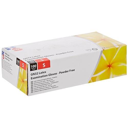 Main Safe Gn32/XL Gn32 sans poudre Gants d'examen en latex, taille 10/XL, Blanc (lot de 100)