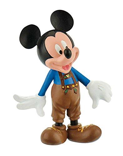 Bullyland 15390 - Spielfigur, Walt Disney Mickey in Lederhose, ca. 7 cm