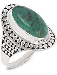 4375486c2c8 Aden s Jewels - Idée Cadeau Maman-Bague- Pierre de Turquoise-Argent Massif-