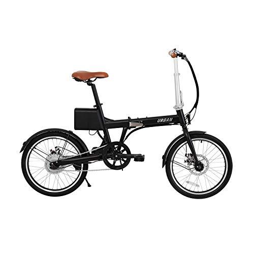 IWATMOTION iWatBike iUrban 20'' Bicicletta elettrica Nera Pieghevole, Adulti Unisex, Grigio, Taglia Unica