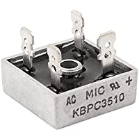 DealMux a14032100ux0365 caja de metal KBPC3510 puente rectificador monofásico, 1 KV, 35 Amp