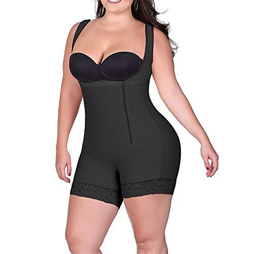 Godgets aperto busto regolabile shapewear corsetto bustino shaper intimo modellante donna body snellente nero 3xl