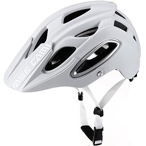 Basecamp NEO Mountainbike Helm, MTB Helm Fahrradhelm für Herren Damen (Weiß)