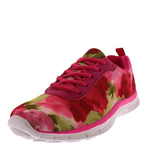 Mujer Get Fit Red Go Unidad Zapatilla Deportiva Caminar
