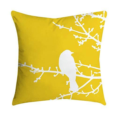 Auied Ananasblatt Gelb Kissenbezug Sofa Auto Taille Wurf Kissenbezug Home Decor