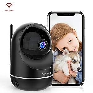 Victure Telecamera Wi-Fi Interno, 1080P Dualband 2.4Ghz & 5Ghz Wi-Fi,Telecamera Sorveglianza WiFi, Baby Monitor con… 41woi%2B9805L. SS300