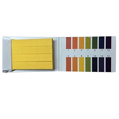 Godagoda PH Teststreifen Universelle Urin Speichel Bodenuntersuchung Lackmuspapier Alkaline Acid Test Papier 1-14 80 Pcs/Set