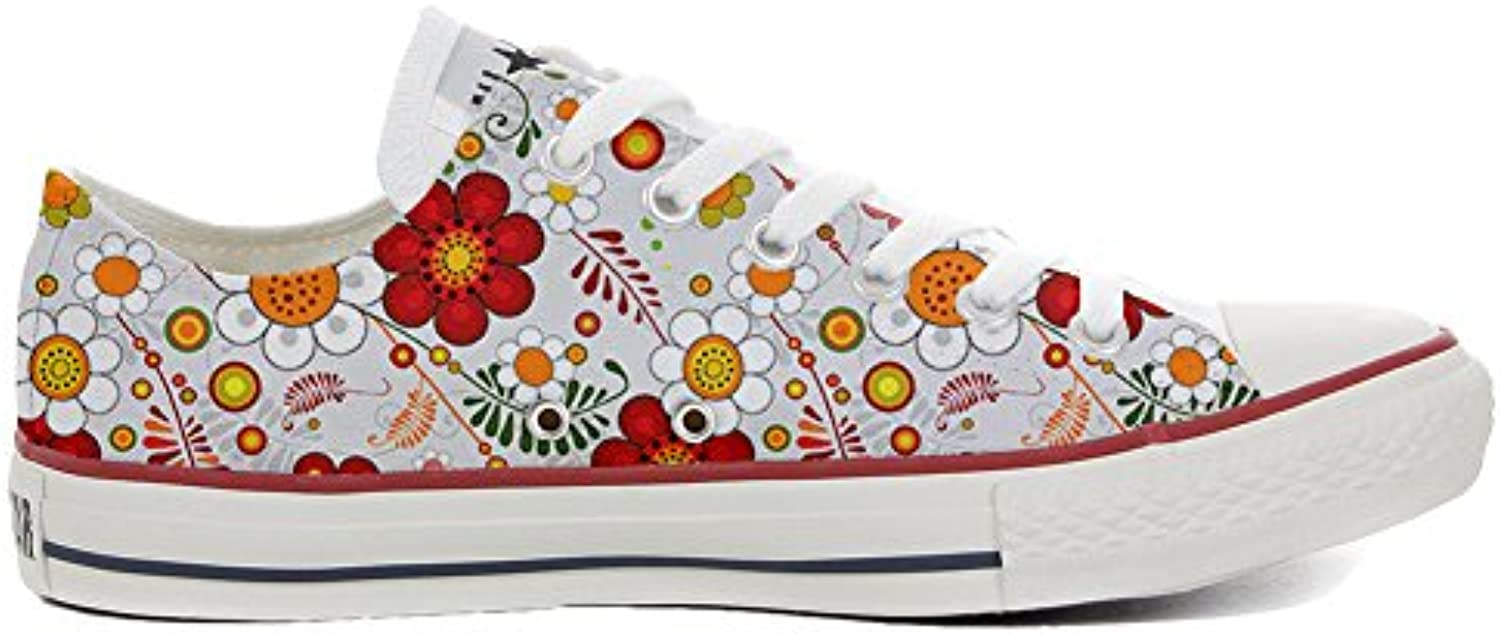 Converse All Star Slim Customized Personalisiert Schuhe Unisex (Gedruckte Schuhe) Floral Paisley