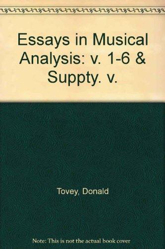 Essays in Musical Analysis: v. 1-6 & Suppty. v. Oxford Music Box