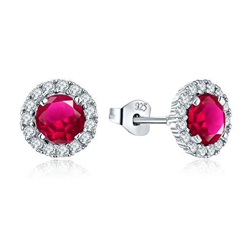 JO WISDOM orecchini argento 925 donna con AAA Zirconia cubica (orecchini color rubino)