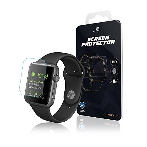 EXINOZ® Apple Watch Protezione quadrante | Protezione di Alta qualità con 1 Anno di Garanzia di Sostituzione | Ottieni Il Meglio dal Tuo Smart Watch Apple (42mm) (1 Pack)