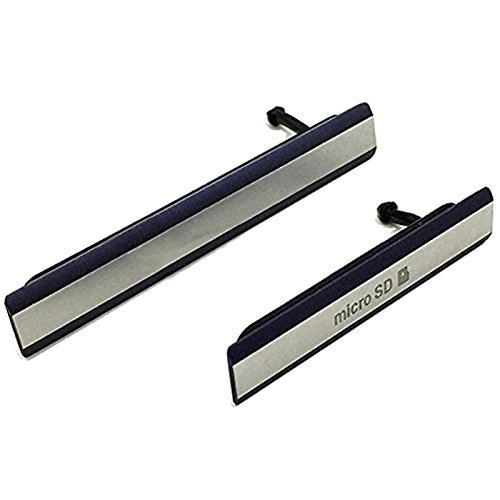 Hedywei Kappe Abdeckung Klappe für Sony Xperia Z2 D6502 D6503 D6543 Micro SD USB Cover(schwarzer)