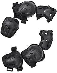 Protectores para ciclismo, patinaje y skate (incluye rodillera, codera y muñequera)
