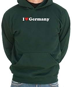 Felpa con Cappuccio I LOVE Germany