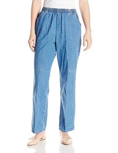 Chic Classic Collection Damen Baumwolle Schlupfhose mit elastischem Bund - Blau - 40 Zierlich - Womens Classic Collection