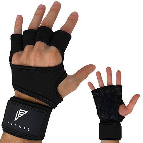 Fithil - Guantes Crossfit Gimnasio Muñequera Mujer