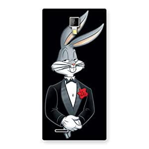Enticing Smart Bunny Black Red Back Case Cover for Micromax Canvas Xpress A99