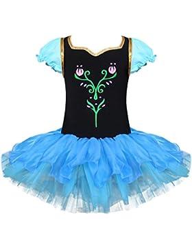 iEFiEL Vestido de Princesa para Niña Maillot Ballet Danza Tutú Fiesta Disfraces para Niña