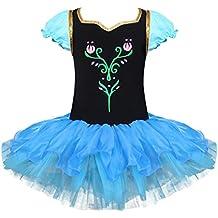 iEFiEL Vestidos Elegantes Princesa de Danza Ballet Disfraces para Niña Tutú con Braga Interior