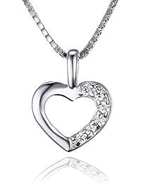 Jwelrypalace 7.26ct Liebe Herz Prinzessin Damen Kubik Zirkonia Verlobung Hochzeit Anhänger Halskette Mit 45cm Box Kette 925 Sterling Silber
