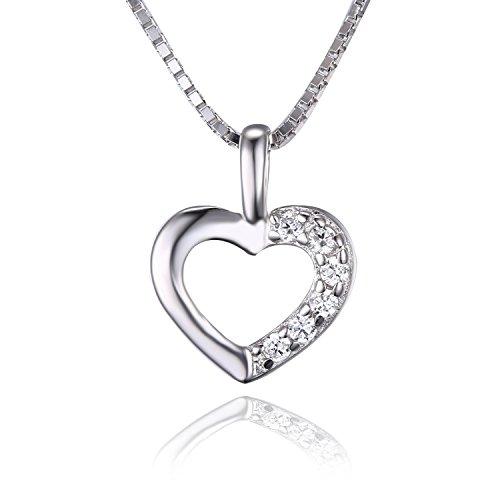 Jwelrypalace-726ct-Liebe-Herz-Prinzessin-Damen-Kubik-Zirkonia-Verlobung-Hochzeit-Anhnger-Halskette-Mit-45cm-Box-Kette-925-Sterling-Silber