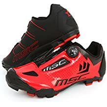 MSC Bikes Aero XC Zapatillas, Unisex Adulto, Rojo/Red, 42