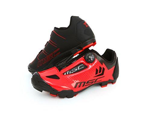 MSC Bikes Aero XC Zapatillas, Unisex Adulto, Rojo, 39