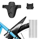 ODSPTER Schutzblech MTB Fahrrad, Vorne Hinten Schutzbleche Mountainbike Fahrrad Spritzschutz mit Kabelbinder für 26-29 Zoll Mud Guard-MTB (Schwarz 2 Stück)