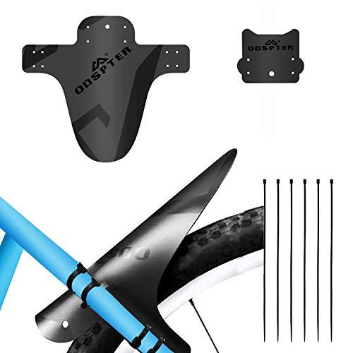 ODSPTER Schutzblech MTB Fahrrad, Vorne Hinten Schutzbleche Mountainbike Fahrrad Spritzschutz mit Kabelbinder für 26-29 Zoll Mud Guard (Schwarz 1 PCS)