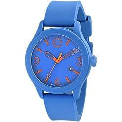 ESQ by Movado Men's 42mm Blue Silicone Band & Case Quartz Analog Watch 07301464