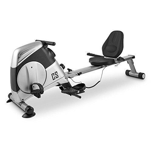 Capital Sports Rowbi 3-en-1 • Ergomètre • Vélo rameur Pliable • Poste de tirage à la poulie • 8 nivaux de résistance • Ecran d'affichage des données • argenté