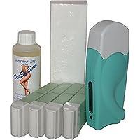 EPILWAX S.A.S - Kit D'Depilatorio Solo Completo De La Cera Desechables de L'Aleo Vera, con Dentado Grande Modelo para los animales piernas, axilas, y el corporal